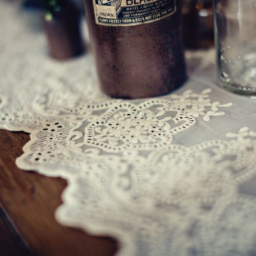 Vintage Lace table runner hire