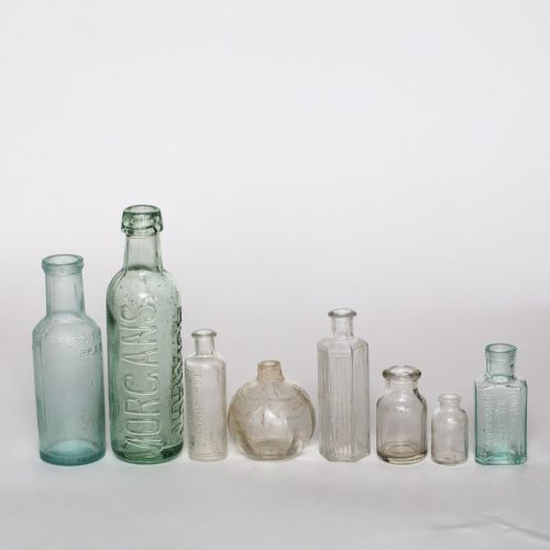 Vintage glass bottles for hire for wedding